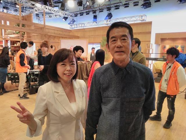 NHK「ごごナマ」出演時に、タレントさんと一緒に撮影した写真