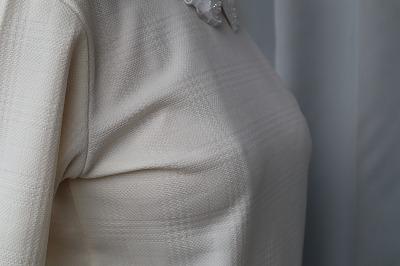 BVDレディース・立体ブラではないブラジャーを着用した写真