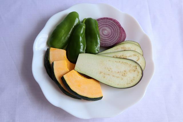 野菜を切ったところ