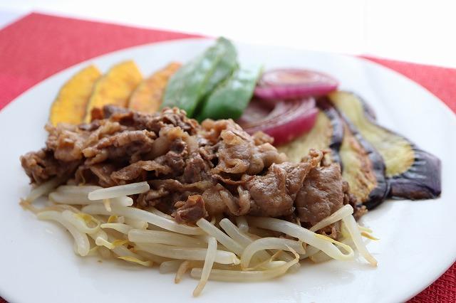 バーベキュー風・牛肉と野菜焼きの出来上がり品