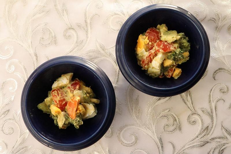 野菜とゆで玉子のサラダの完成品
