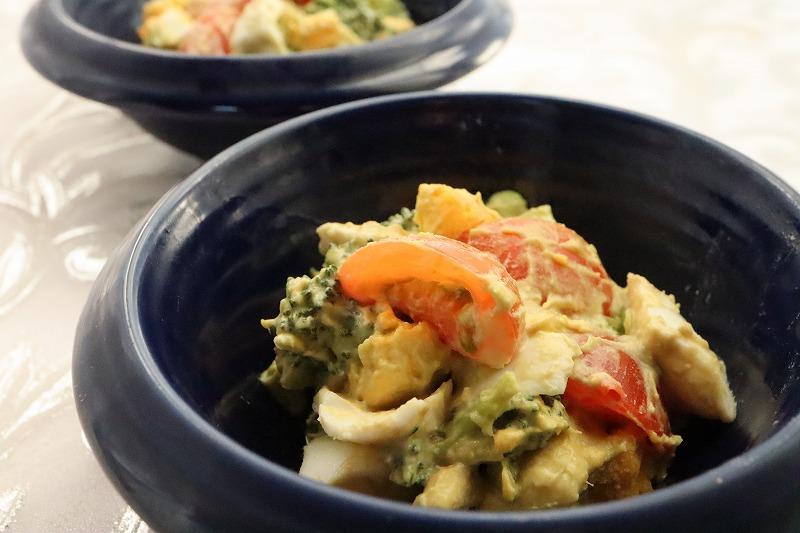 お気に入り野菜とゆで玉子のサラダ★バストアップレシピの完成品のアップ