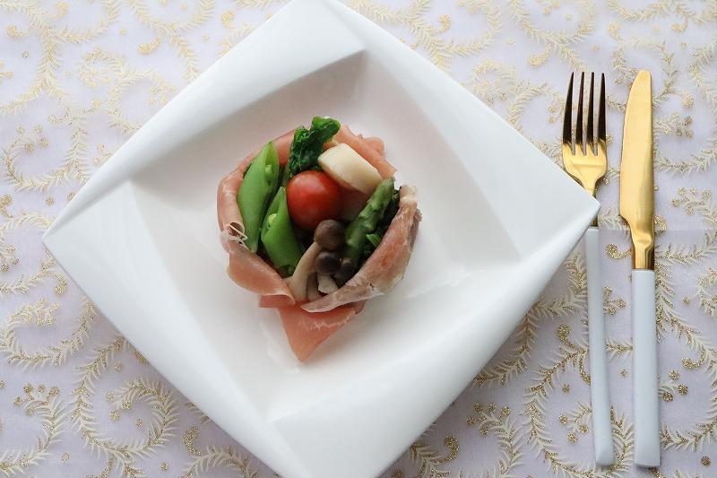 帆立と野菜の生ハム包み・出来上がり品