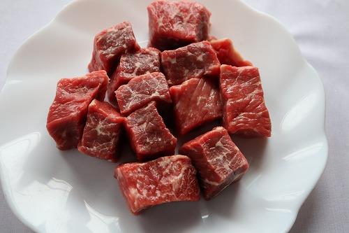 肉を切ったところ