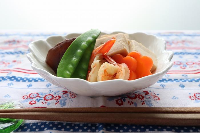 高野豆腐と海老の含め煮の完成品