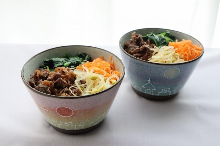 牛肉と野菜のビビンバ丼の完成品