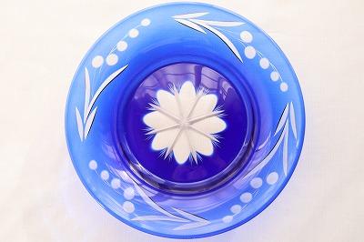 切子硝子の皿