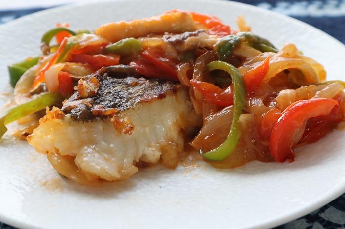 白身魚の甘酢あんかけ・完成品のアップ